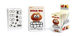 Turn your average looking snack into cool edible characters with 10 different expressions, creative frun from SUCK UK