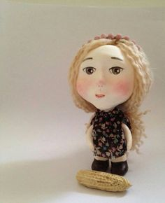 Chloe Handmade Paper clay Doll by onwindycastle on Etsy