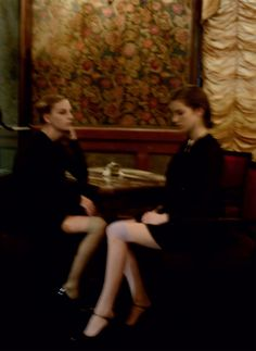 caterina ravaglia and tali lennox by deborah turbeville for grey magazine issue 5 fall 2011.