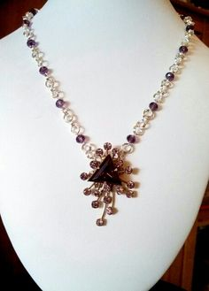 Another vintage broach upscaled into a necklace