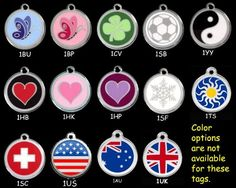 Custom Engraved Stainless Steel with Enamel Pet ID Tag - Medium Dog -- Click image for more details. (This is an affiliate link and I receive a commission for the sales) Dog Tags Pet, Cat Id Tags, Engraved Pet Tags, Custom Dog Tags, Thing 1, Pet Names, Dog Harness, Custom Engraving, Dog Accessories