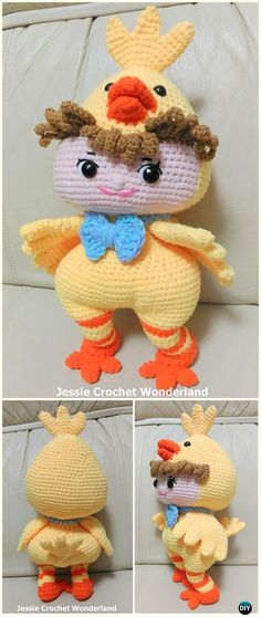 Crochet Baby Chick Amigurumi Free Pattern -#Crochet Easter #Chicken Free Patterns