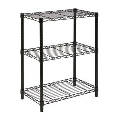 Honey can do SHF 01905 3 Tier Steel Urban Adjustable Storage Shelving Unit Black 2 Compartments 3 Tiers 30 Height x 14 Width x 24 Depth Black Steel Steel Shelving Unit, Heavy Duty Shelving, Wire Shelving Units, Shelving Racks, Shelving Systems, Industrial Shelving, Wall Shelving, Display Shelves, Commercial Shelving