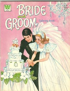 Bride and Groom Coloring Book by Whitman on Etsy Vintage Coloring Books, Vintage Children's Books, Vintage Paper, Vintage Toys, Antique Toys, Vintage Stuff, Vintage Antiques, Sweet Memories, Childhood Memories