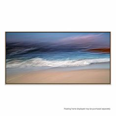 This abstract, painterly seascape utilises on trend colours and will lend the impression of movement to any room.