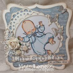 Dåpskort Lene'S Stempelkrok: Oktoberutfordring-Papirdesign Baby Cards, I Card, Paper, Projects, Handmade, Crafts, Decor, Log Projects, Blue Prints