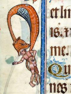 Luttrell Psalter, England ca. 1325-1340 (British Library, Add 42130, fol. 43v)