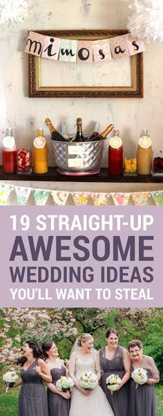 19 STRAIGHT-UP AWESOME WEDDING IDEAS YOU'LL WISH YOU THOUGHT OF FIRST - Pugul