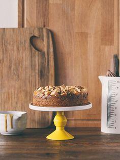 caramel-swirl apple and spelt cake (dairy-free)