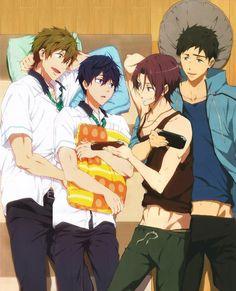 フリ - look at sousuke with his arm around rin. look me in the eyes and tell me it's not canon.