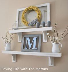 Loving Life with The Martins: Everyday Shelf Decor