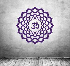 Kronenchakra Wandtattoo in 31 Farben #chakra#wandtattoo#yoga