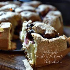 super szybkie CIASTO ZMALINAMI IBORÓWKAMI Cake Cookies, Muffin, Cooking, Breakfast, Food, Eat, Bakken, Kitchen, Morning Coffee