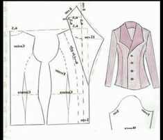 Costura e ModelalModelalgemp i gemSewing and ModelingJacket For Deniz 3 Coat Patterns, Dress Sewing Patterns, Clothing Patterns, Collar Pattern, Jacket Pattern, Casual Dresses Plus Size, Sewing Blouses, Modelista, Make Your Own Clothes