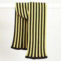 Darkroom Shepherd England Vertigo Stock Scarf, Yellow. Lambs wool  £65