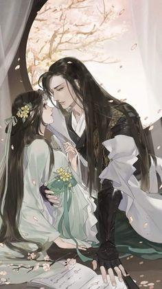 Couple Manga, Anime Love Couple, Anime Couples Manga, Couple Art, Anime Art Girl, Manga Art, Chinese Picture, Chinese Drawings, Chinese Artwork