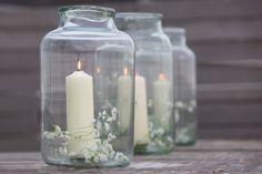 Stunning Vintage French Pickling Jar Lanterns.