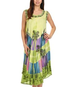 Another great find on #zulily! Lime Palm Tree Dress - Women #zulilyfinds