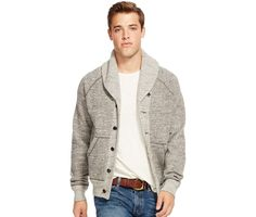 Ralph Lauren offers luxury and designer men's and women's clothing, kids' clothing, and baby clothes. Shawl Collar Cardigan, Sweater Cardigan, Men Sweater, Ralph Lauren Mens Shirts, Polo Ralph Lauren, Stylish Men, Men Casual, Mens Trends, Men Wear