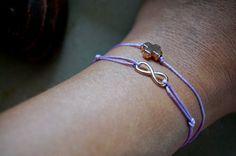 DIY Anleitung für ein hübsches Armband mit verstellbaren Knoten und Rosegold Anhänger