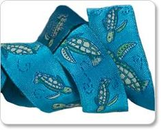 Darling Sea Turtle Embroidered Ribbon by Cherish Flieder