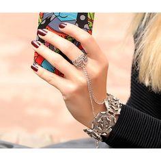 Hand Bracelet-Chain Ring-Hand Chain-Slave by Trinketmart on Etsy