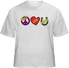PEACE LOVE HORSE RESCUE  Shirt ~ A portion of the proceeds from Every T-Shirt, Tank Top, Sweatshirt or Hoodie sold on this page, goes to help and support Animal Rescue Groups/Shelters in their animal rescue endeavors. Our home page ~ http://www.rescuedismyfavoritebreed.org/index.htm