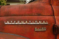 OLD PARKED CARS.: 1956 International Harvester S-120.