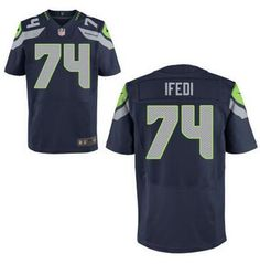 5d50758227f Men s Seattle Seahawks  74 Germain Ifedi Nike Navy Blue Elite 2016 Draft  Pick Jersey American