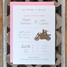 Items Similar To Wedding Invitations. Wedding Invites   Motorcycle Theme  Wedding On Etsy