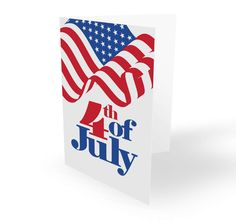 4th of july flag card design concept july 2016
