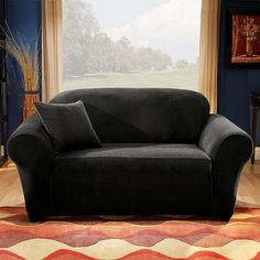 Sure Fit Logan Sofa Slipcover Living Room With White Best Slipcovers Pinterest Stretch Pique Loveseat Black