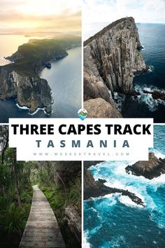 This contains: THREE CAPES TRACK Top Travel Destinations, Amazing Destinations, Travel Pictures, Travel Photos, Travel Guides, Travel Tips, Australia Country, Australia Travel Guide, Adventures Abroad