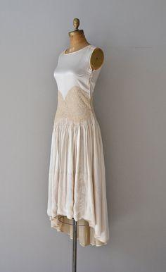 Nazimova dress vintage wedding dress silk by DearGolden Vestidos Vintage, Vintage Dresses, Vintage Outfits, 20s Dresses, Vintage Clothing, 20s Fashion, Fashion History, Vintage Fashion, 1920s Wedding