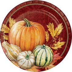 16 x Thanksgiving Harvest Paper Party Pumpkin Beverage Napkins Autumn Leaves