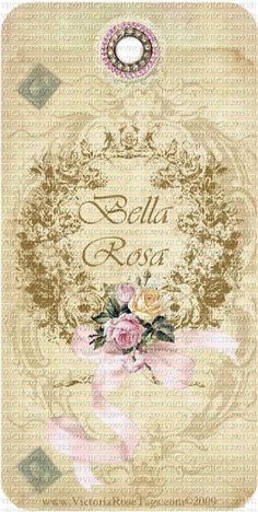 A Bella Rosa Old World Scrolls Roses Wreath Set of 4 Alike You Print Love Journal, Vintage Tags, Tag Art, High Tea, Scrapbooking Ideas, Old World, Decoupage, Vintage World Maps, Printables