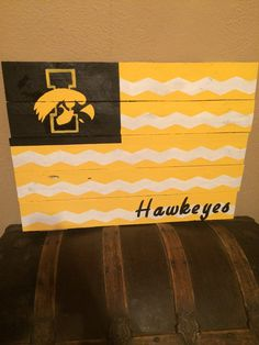 Iowa Hawkeye Sign. by CraftyWithAPassion on Etsy