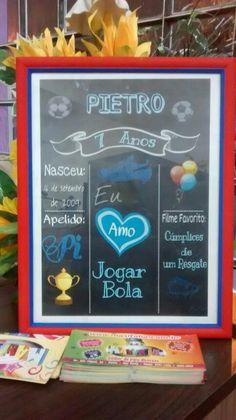 Chalck Board - Pietro tema Futebol