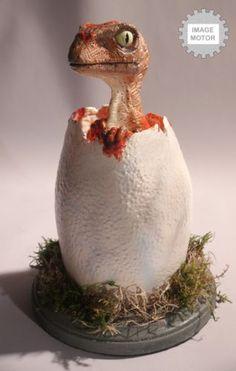 Realistic EGG Hatching Baby Velociraptor Lifesize Prop Jurassic Park | eBay