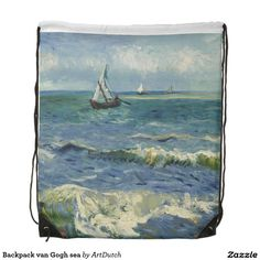 Backpack van Gogh sea