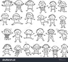 Find Happy Kid Cartoon Doodle Collection stock images in HD and millions of other royalty-free stock photos, illustrations and vectors in the Shutterstock collection. Thousands of new, high-quality pictures added every day. Doodle Drawings, Cartoon Drawings, Easy Drawings, Les Doodle, Doodle Art, Doodle Kids, Happy Cartoon, Cartoon Kids, Free Cartoon Images