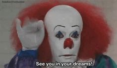 Trending GIF horror scary creepy it clown dreams stephen king pennywise disturbing scary gif scary clown creepy clown pennywise the clown Gruseliger Clown, Creepy Clown, Scary Scary, Creepy Pics, The Crow, American Horror Story, Scary Movies, Horror Movies, Awesome Movies