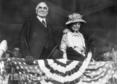 Warren and Florence Harding. Florence Kling Harding became the first first lady to vote, after women won the right in 1920, and her husband, Warren G. Harding, was elected in 1921.