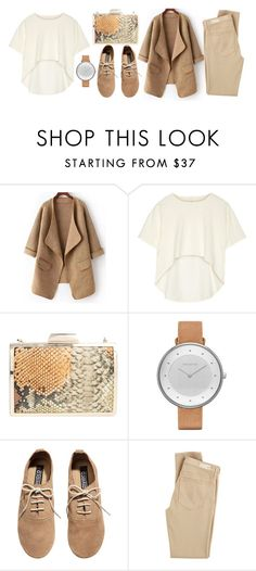 """""""camel color"""" by valdera ❤ liked on Polyvore featuring Oak, Glint, Skagen, H&M and AG Adriano Goldschmied"""