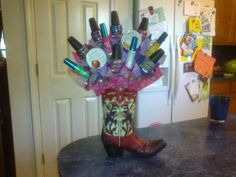 This one was made for the cowgirl......and I put nail polish in it, instead of candy!