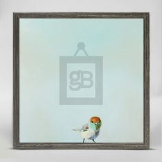 """Little Joey"" Mini Framed Canvas from GreenBox Art + Culture. Size - 6''x6''. Price - $29.98. Rustic frame color is predetermined. Browse our entire collection of Mini Framed Canvases!"