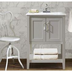 Ceramic Sink Top 24-inch Single Sink Bathroom Vanity - Overstock™ Shopping - Great Deals on Legion Furniture Bathroom Vanities