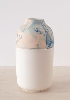 Minimalist porcelain vase