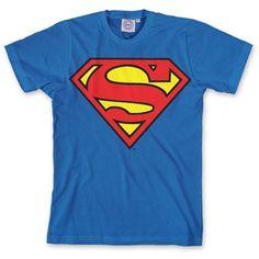 DC Comics - Camiseta de Superman para hombre, talla 41/42, color Azul #regalo #arte #geek #camiseta