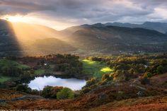 Sunset, Loughrigg Tarn, Ambleside, Lake District, Cumbria, England